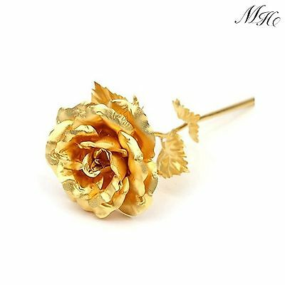 24K Dipped Gold Single Foil Rose Valentine's Day Birthday Mother's DayGift Box