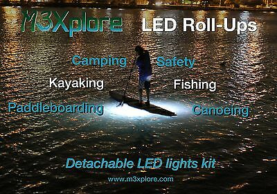 WATERPROOF FLEXIBLE LED LIGHT KIT - Paddleboarding, Kayaking, Camping, Fishing