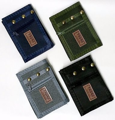Tri-fold Denim Men's Wallet Velcro Wallet - NEW