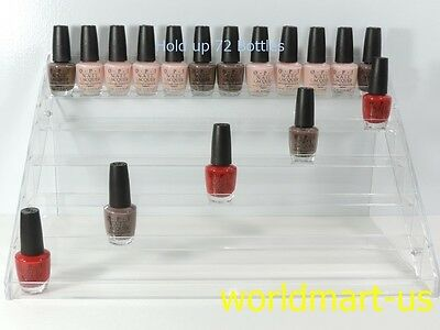 Nail Polish Table Rack Acrylic Display hold up to 36, 60, 72 Bottles/ OPI, ESSIE