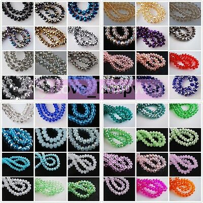 Wholesale 100pcs 3x2mm Faceted Rondelle Crystal Glass Jewelry Loose Beads Charms