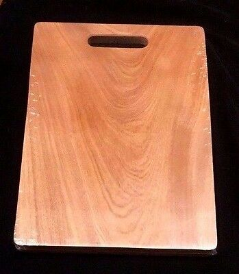 Solid Natural Wood Wooden Kitchen Cutting Chopping Board With Handle 44.8 X 30cm