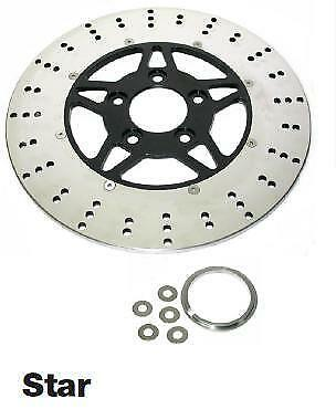 Star Style Front Or Rear Brake Disc Rotor Stainless Steel 84-Up Harley Custom