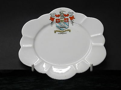 Foley small china plate with Torquay crest