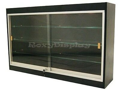 Wall Style Black Showcase Display Case Store Fixture Knocked Down #WC439B