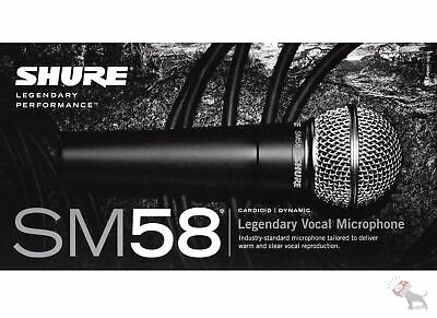 Shure SM58 LC Handheld Live Studio Recording Dynamic Cardioid Vocal Microphone