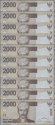 Indonesian 2,000 (2000) Rupiah X 10 Pieces (PCS), P-148c, UNC