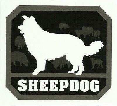 Sheepdog Combat Tactical Morale Military Car Vehicle Window Decal Sticker