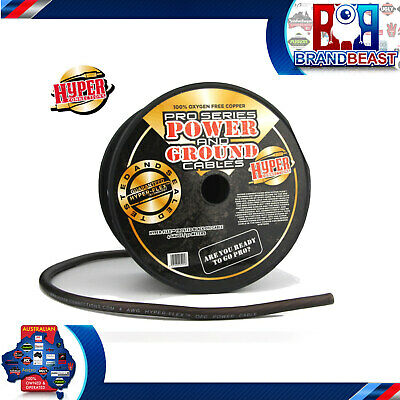 Hyper Connections Pro Pure Ofc 4 Awg Car Audio Amp Ground Cable By The Meter!