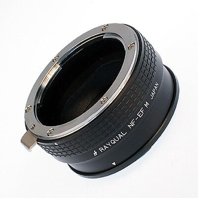 Kindai(Rayqual) Mount Adapter for EOS M body to Nikon F lens Japan Made