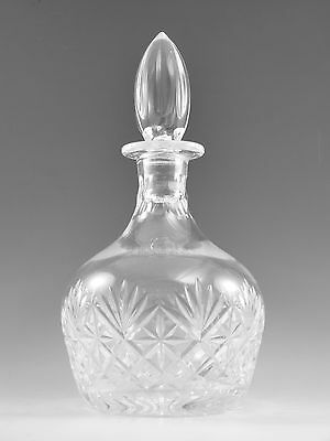 Royal DOULTON Crystal - KNIGHTSBRIDGE Cut - Round Decanter - 9 3/4""
