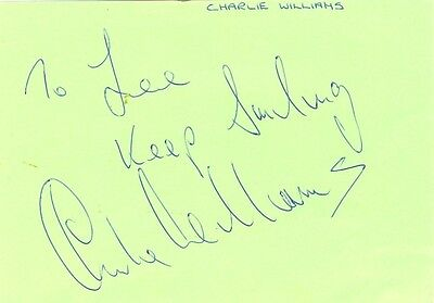 Charlie Williams signed autograph album page 1970s British comedian/footballer