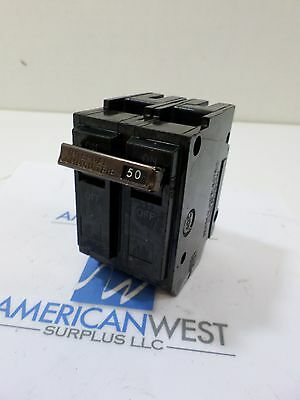 1 used GE General Electric THQL2150 2 pole 50 amp snap in older 120/240 breaker