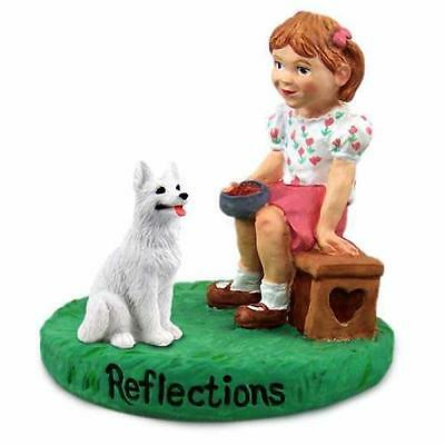 RGD08C CON German Shepherd White Reflections w/Girl Figurine