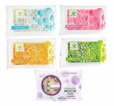 Tea Zone Mini Mochi Rice Cake Snack Dessert Toppings ASSORTED FLAVORS 10.58 Oz.