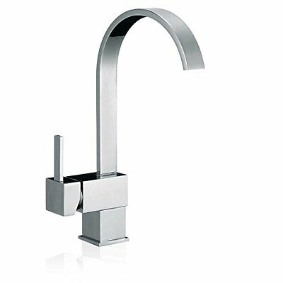 FREUER Organica Collection: Modern Kitchen / Wet Bar Sink Faucet  Polished Chrom