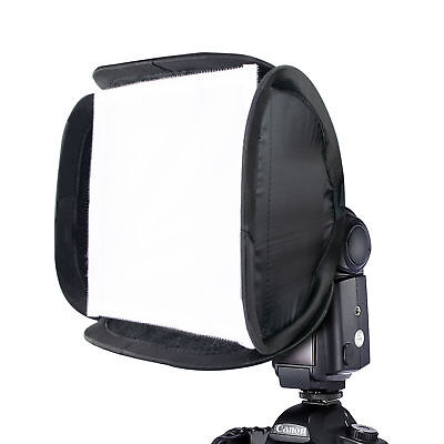 Phot-R 23cm 9inch Folding Softbox Portable Mini Diffuser Flash Studio Speedlight