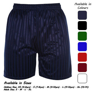 Boys Shadow Stripe Shorts Football PE School Gym Games Sports Ages 3-14 Years