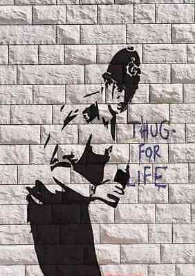 Banksy thug for life copper A3 Box Canvas Print