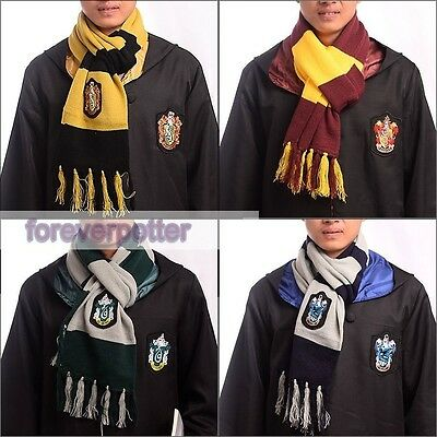 Harry Potter Gryffindor Slytherin Ravenclaw Hufflepuff Scarf  Cosplay Party Gift