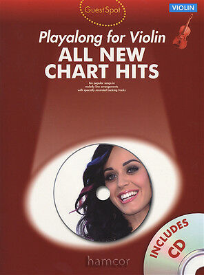 All New Chart Hits Playalong for Violin Guest Spot Music Book/Backing Tracks CD