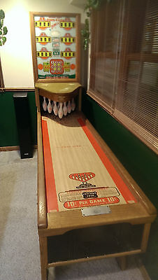 1955 Chicago Coin's SCORE A LINE Shuffle BOWLER Bowling Arcade AMAZING CONDITION