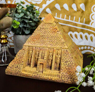 Egyptian Sandstone Pyramid Box Collectible Egypt Decoration Container