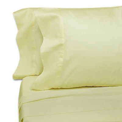 Hotel Quality KING FITTED - Eugenia Linens- 250 TC Cotton Sateen - 12 PK - IVORY