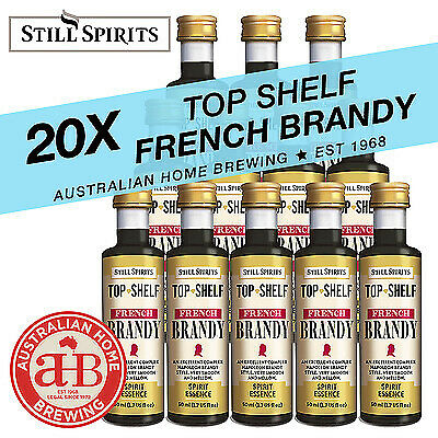 20x Still Spirits Top Shelf French Brandy homebrew supplies spirit essence