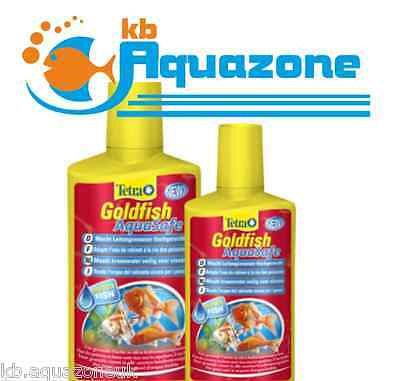 TETRA * GOLDFISH AQUASAFE 100ml 250ml 500ml * WATER CONDITIONER * TREATMENT *NEW