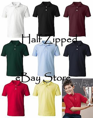 French Toast Boys Pique Polo Shirt A9084 5-20 School Uniform Short Sleeve SALE