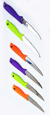 6 Piece Knives New Colour Set Cutlery Blade Stainless Steel