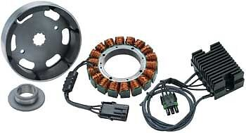 Compu-Fire 40amp Charging Kit Big Twin 2003-06 Models Fits Harley Davidson