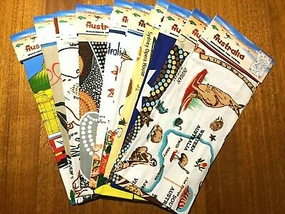 10 x Australian Souvenir 100% Cotton Tea Towel  Assorted Towels 48cm x 80cm