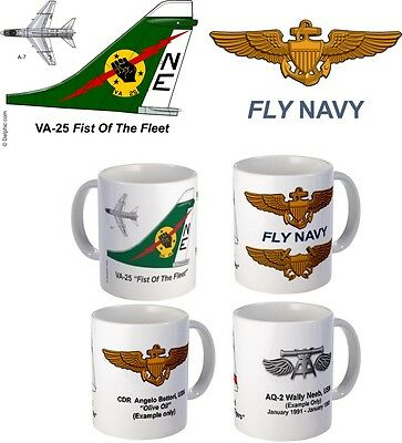 "VA-25 ""Fist Of The Fleet"" A-7 Corsair II mug"