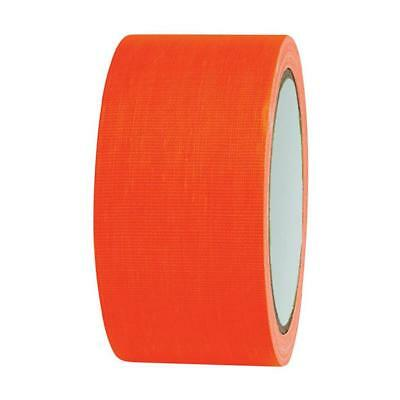 NEON Gaffa Tape Klebeband UV-aktiv 50mm x 25m orange Gewebeband Panzertape