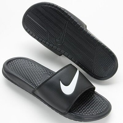 New Men's Nike Benassi Swoosh Slide Sandals NWT NEW Flip flops