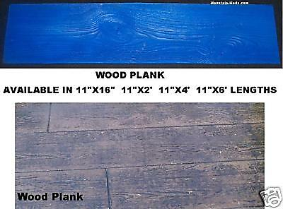 4' Wood Plank Woodgrain Decorative Texture Concrete Cement Stamp Mat Vertical