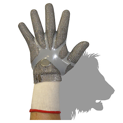 Stainless Steel Chain Mesh Glove - Full Hand, Claw Clasp (CAT 127C*)