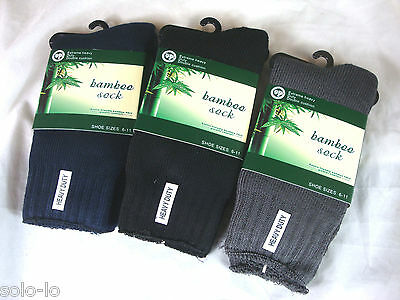 Assorted 6 Prs Mens Bamboo Heavy Duty Thick Work  Socks size 6-11  75% Yarn New