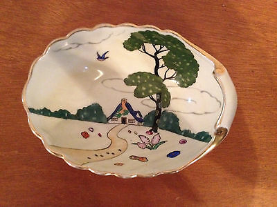 Vintage Antique Japanese Noritake Morimura Bros. Ceramic Shell Form Dish