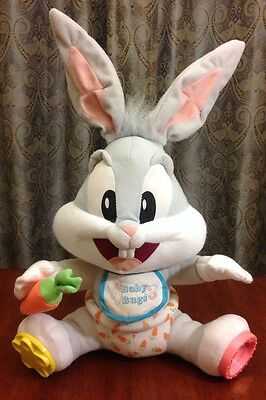 Looney Tunes Lovables Baby Bugs Bunny Plush Tyco Baby Toy Doll Warner Bros.