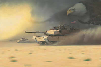 """""""And Hell's Comin' With Me"""" Dru Blair 3rd Inf. Operation Iraqi Freedom Print"""