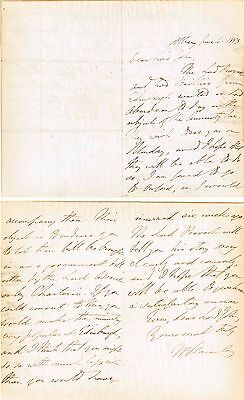 Lord Thomas MacAuley signed letter 1853 re Scotland Amnesty Tax & PM Aberdeen