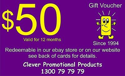 Gift Voucher for those hard to buy for people. $50 to use on anything in store