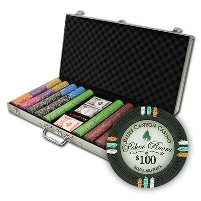 New 750 Bluff Canyon 13.5g Clay Poker Chips Set with Aluminum Case - Pick Chips!