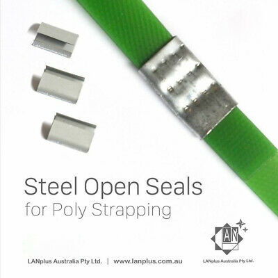1000 (approx)x 15mm Steel Open Metal Seals Packing Clips buckle 4 Poly Strapping