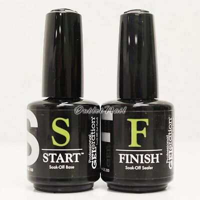 JESSICA GELeration Soak Off Gel 2pc Kit  Base Coat & Top Sealer (START & FINISH)