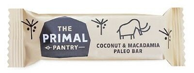 The Primal Pantry Coconut & Macadamia Paleo Bar 45g (Pack of 18)