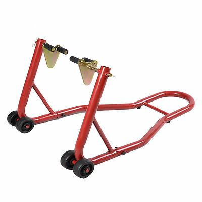 Motorcycle Front Stand Motorbike Track Paddock Stands Red For Garage Lift